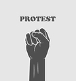 Clinched fist - resistance and strike concept vector image vector image