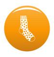 cotton sock icon orange vector image vector image