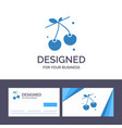 creative business card and logo template berry vector image vector image