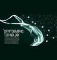 cryptographic technology background vector image vector image