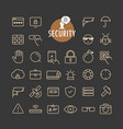 different security icons collection web
