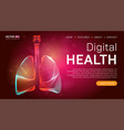 digital health landing page template or medical vector image vector image