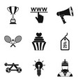 discount in online store icons set simple style vector image