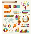 elements and icons infographics vector image