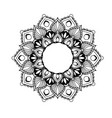 ethnic mandala design - flower style tracery vector image