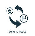 euro to ruble icon mobile app printing web site vector image vector image