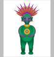 figurine of the ancient mayan tribe cartoon style vector image