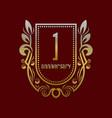 first anniversary vintage logo symbol golden vector image