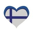Flag icon Finland design graphic vector image vector image