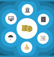 flat icon finance set of strongbox money box vector image vector image