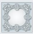 floral hand drawn border frame design vector image