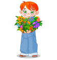 flowerboy vector image vector image