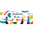 friendship day banner diverse friends together vector image