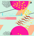 geometric funky seamless pattern vector image vector image