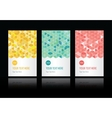 Geometric pattern set of cards