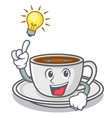 have an idea coffee character cartoon style vector image vector image