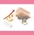 isometric real estate property sale or investment vector image vector image