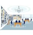library building room interior vector image