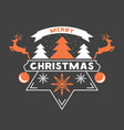merry chrismas greeting card with snow flakes vector image vector image