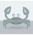 merry crab on beach vector image