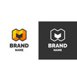 modern logo and sign the letter m vector image vector image