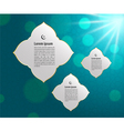 Muslim abstract greeting banners vector image
