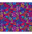 numbers seamless multicolor background vector image