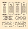 ornate flourish frames vintage ornament borders vector image vector image