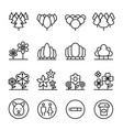 park landscape icon set in thin line style vector image