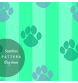 pattern of traces of dogs vector image vector image