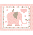 pink elephant vector image vector image