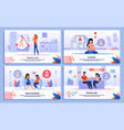 pregnancy test pregnant woman life banners vector image vector image