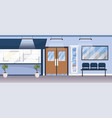 professional hospital with medical reception and vector image