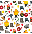 russia items set souvenirs vector image vector image