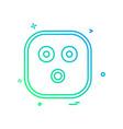 sad emoji icon design vector image vector image