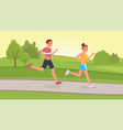 scamper in park flat vector image vector image