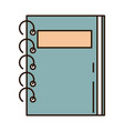 school education notepad with spiral supply line vector image