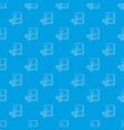 scissors paper pattern seamless blue vector image vector image
