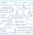 seamless pattern math formulas exact school vector image