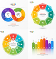Set of infographic templates with 8 options vector image