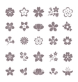 Simple flower floral graphic icons set vector image vector image