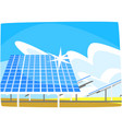 solar panel production of energy from the sun vector image vector image