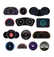 speedometer car speed dashboard panel and vector image