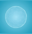 sphere 3d technology style for design vector image vector image