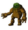 stone golem character fantastic monster fantasy vector image