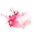 stylish red watercolor splatter texture stain vector image vector image