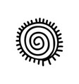 sun icon aztec vector image
