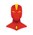 superhero in flat cartoon style vector image vector image