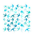 swallows background for your design vector image vector image