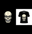 t-shirt print with skull apparel design vector image vector image